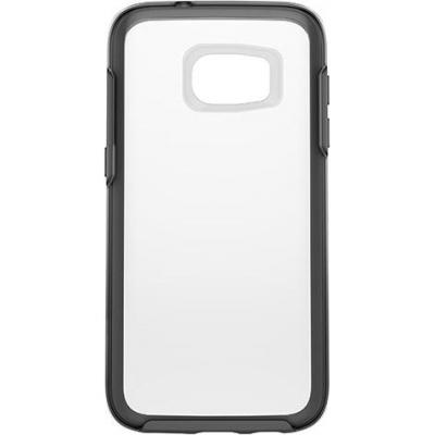 Otterbox mobile phone case: Galaxy S7 Symmetry Series Clear Case - Zwart, Transparant