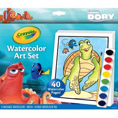 Crayola kleurplaat en boek: Waterverfset Finding Dory