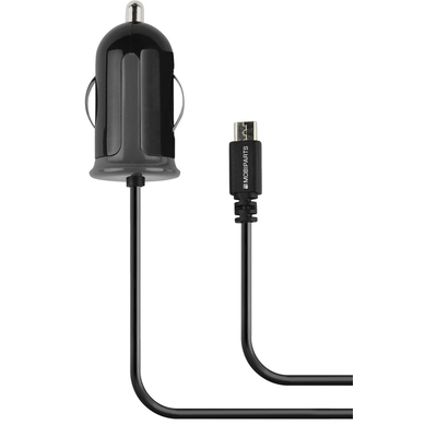 Mobiparts Car Charger Micro USB 2.1A Black Oplader - Zwart