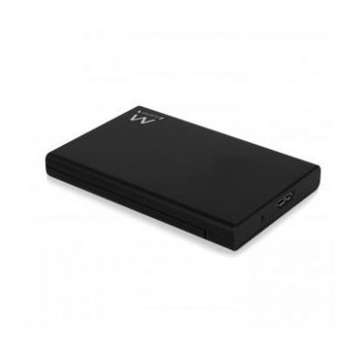 Ewent behuizing: USB 3.1 Gen1 (USB 3.0) Screwless 2.5 inch SATA HDD/SSD enclosure - Zwart