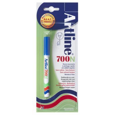 Artline 700 Blue Marker - Blauw, Wit