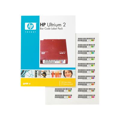 Hewlett Packard Enterprise HP Ultrium 2 Bar Code Label Pack Barcode label