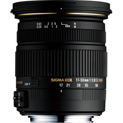 Sigma 17-50mm F2.8 EX DC OS HSM Camera lens - Zwart