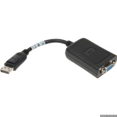 2-power kabel adapter: DisplayPort/VGA, Black - Zwart