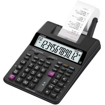 Casio calculator: 12-Digits Display, 4 x AA, 16,5 x 6,5 x 29,5 mm, 495 g - Zwart