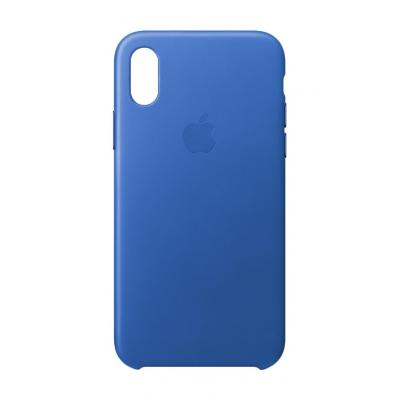 Apple mobile phone case: iPhone X Leather Case - Electric Blue - Blauw