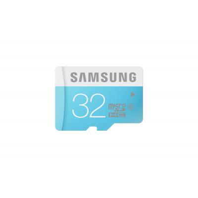 Samsung flashgeheugen: 32GB MicroSDHC, Standard - Blauw, Wit