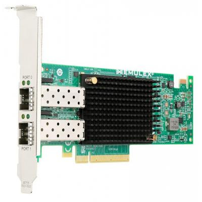 Lenovo netwerkkaart: Emulex VFA5 2x10 GbE SFP+ PCIe Adapter for System x - Zwart, Groen