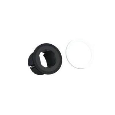 Bachmann : 2 decorative rings, black & white - Zwart, Wit