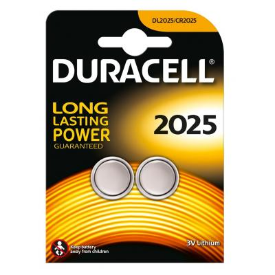 Duracell Specialty 2025 Lithium knoopcelbatterij, verpakking van 2 batterij