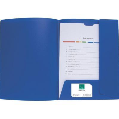 Exacompta Cartocom, A4, PP, 10Pcs., Blauw Map