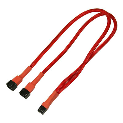Nanoxia 3-Pin Molex Y-Cable, 30 cm - Rood