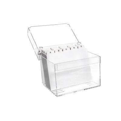 Maul kaartenbak: A6, 15.7 x 12.8 x 12.5 cm - Transparant