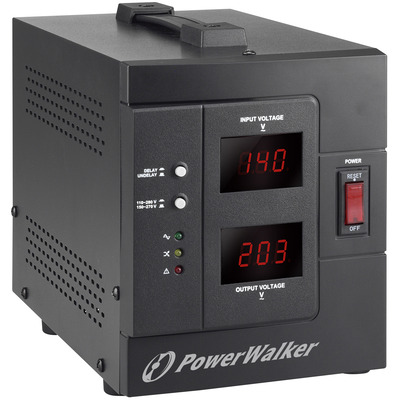 PowerWalker AVR 2000/SIV voltage regulator - Zwart