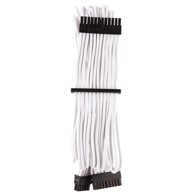 Corsair Premium Individually Sleeved ATX 24-Pin Cable Type 4 Gen 4, White - Wit