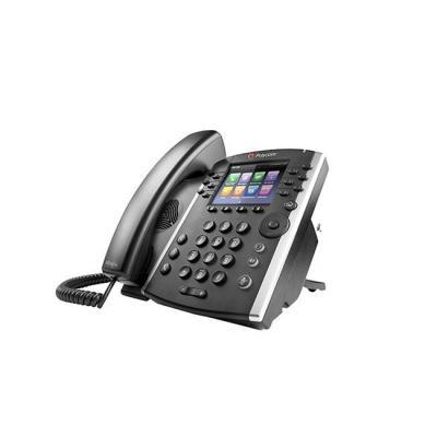 Polycom ip telefoon: VVX 401 - Zwart