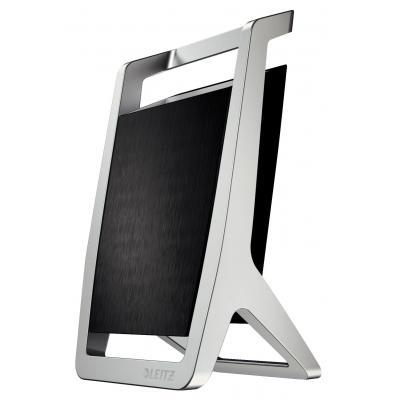 Leitz houder: 65 x 125 x 75 mm, 0.22 kg - Zwart, Zilver