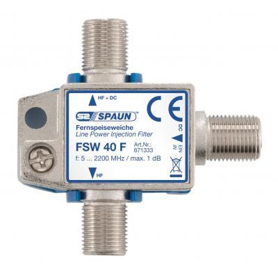 Spaun FSW 40 F Kabel splitter of combiner - Zilver