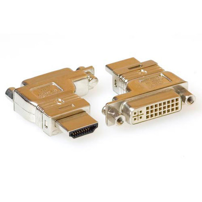 ACT Verloop adapter DVI-D female naar HDMI A male Kabel adapter - Zilver