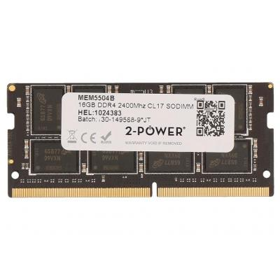 2-power RAM-geheugen: 16GB DDR4 2400MHz CL17 SODIMM Memory - replaces HX424S14IBK2/16