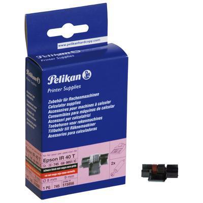 Pelikan transfer roll: 2 Ink Rolls - Zwart, Rood