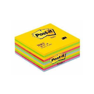 3m zelfklevend notitiepapier: Herpositioneerbaar en verwijderbaar.Blok à 450vel met verschillende kleuren.76x76mm.PEFC .....