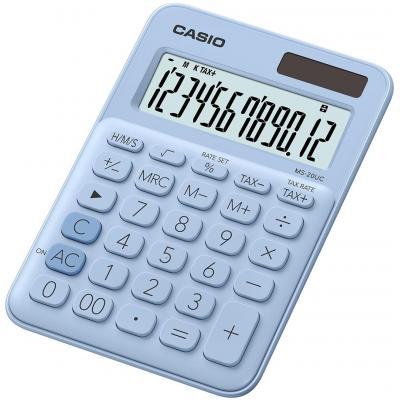 Casio 12 Digits, 105x149.5x22.8mm, 110g, Blue Calculator - Blauw