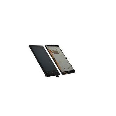 Microspareparts mobile telefoon cover: Cover & LCD-Display - Zwart