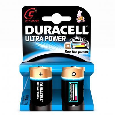 Duracell batterij: C Ultra Power batterijen (2 stuks) - Zwart