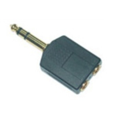 Microconnect 6.3mm/2x3.5mm M/F Kabel adapter - Zwart