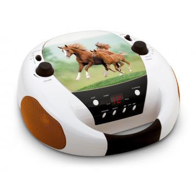 Bigben interactive CD-radio: Portable radio / CD speler met paarden - Zwart, Bruin, Wit