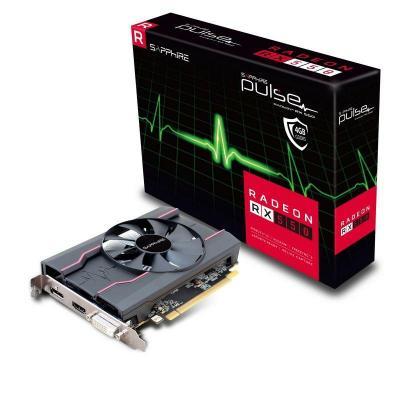 Sapphire videokaart: Radeon RX 550, 4GB GDDR5, 128-bit - Zwart, Rood