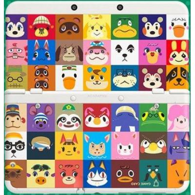 Nintendo portable game console case: New 3DS cover plate Animal Crossing No. 27 - Multi kleuren