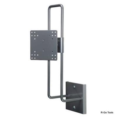 R-Go Tools R-Go Steel Up & Down Muurbeugel, verstelbaar, zilver Projector plafond&muur steun