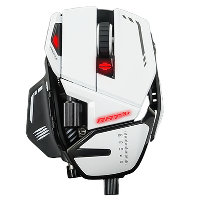Mad Catz R.A.T. 8+ Computermuis - Wit