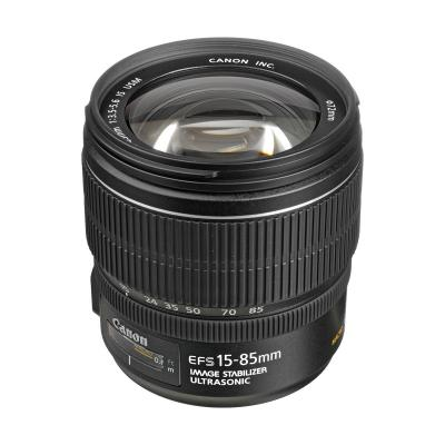 Canon camera lens: EF-S 15-85mm f/3.5-5.6 IS USM - Zwart