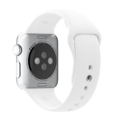 Apple horloge-band: 38mm White Sport Band - Wit