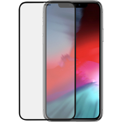 Azuri Tempered Glass flatt RINOX ARMOR - zwart frame - voor iPhone Xs Max/11 Pro Max FG Screen protector - Zwart, .....