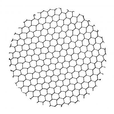 Verbatim licht montage en accessoire: Honeycomb louver f / LED Track lights 25W - Zwart