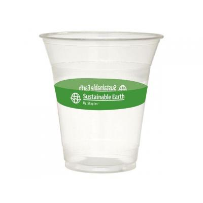 Sustainable earth by staples domestic coffee or tea cup: Drinkbeker Sust.E 0,35l transp.bio pk/50
