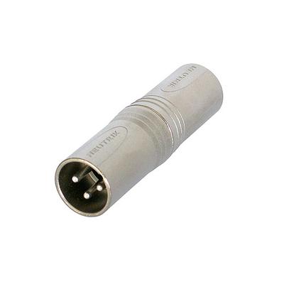 Neutrik 3p XLR NA3MM adapter Kabel adapter - Zilver