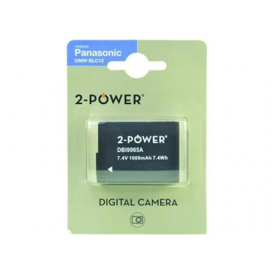2-power batterij: Digital Camera Battery, Li-Ion, 7.2V, 1200mAh, Black - Zwart
