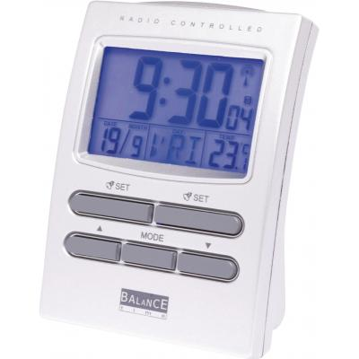 Balance weerstation: Radio-Controlled Alarm Clock Colour LCD Display Silver - Zilver