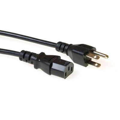 ACT Ak5062 usa powercord black 2.50m Electriciteitssnoer