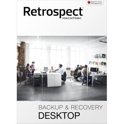 Retrospect backup software: (v15), Desktop, license, 1 host workstation, 5 clients, download, MAC