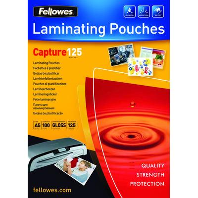 Fellowes ImageLast 125 micron lamineerhoes glanzend A5-100pk Laminatorhoes - Transparant