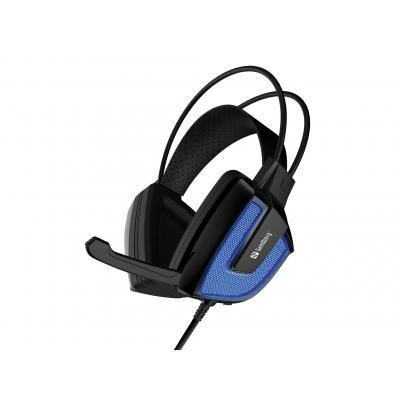 Sandberg headset: Derecho Headset - Zwart, Blauw