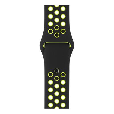 Apple : Zwart/volt sportbandje van Nike (38 mm) - Zwart, Limoen