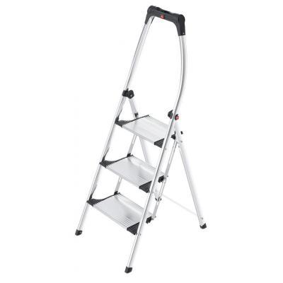 Hailo ladder: LivingStep Comfort Plus - Aluminium, Zwart