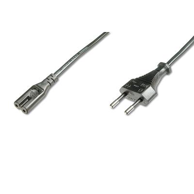 Digitus Power Cord, Euro - C7 M/F, 1.2m, H03VVH2-F2G 0.75qmm, bl Electriciteitssnoer - Zwart